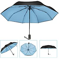 iwmh automatico tre pieghevole impermeabile 9-ribs ombrello