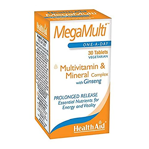 HealthAid Mega-Multi's (with Ginseng) - 30 Tablets