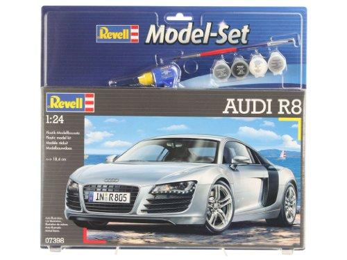 Revell Modellbausatz Auto 1:24 - Audi R8 im Maßstab 1:24, Level 4, originalgetreue Nachbildung mit vielen Details, , Model Set mit Basiszubehör, 67398