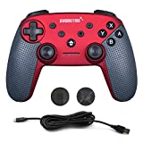 EVORETRO Switch Pro Wireless Red Controller for Nintendo Switch - Joy Bluetooth PC Ultimate Gamepad Remote with Gyro Axis