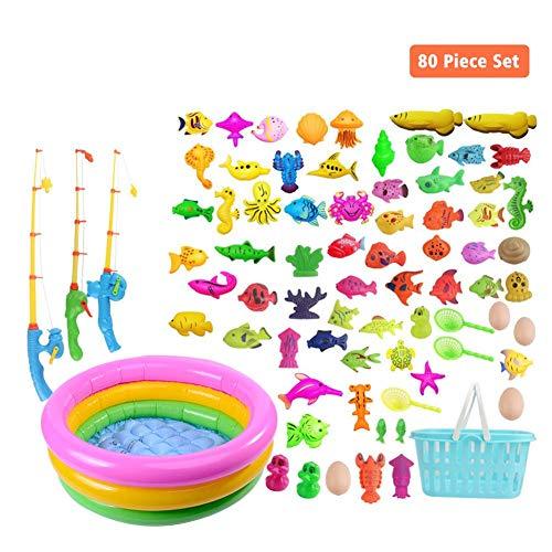 Todaytop Magnetic Fishing Game Rod Kinder Angeln Spielzeug Spiel Set für Bad Angelhaken Kinder Aufblasbare Pool Outdoor Spielzeug