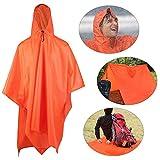 Aodoor - Poncho impermeable, multifunción 3en 1. Prenda impermeable para caza, acampadas y pesca.