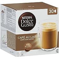 NESCAFÉ Dolce Gusto Café au Lait, Coffee with Milk, Cappuccino, 30 Capsules