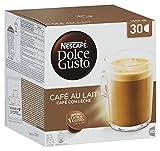 Nescafé Dolce Gusto Café au Lait, XXL-Vorratsbox, 30 Kaffeekapseln, 100% Arabica Bohnen, leichter Kaffeegenuss mit Cremigem Milchschaum, Vorratsbox, 1er Pack Großpackung (1 x 30 Kapseln)