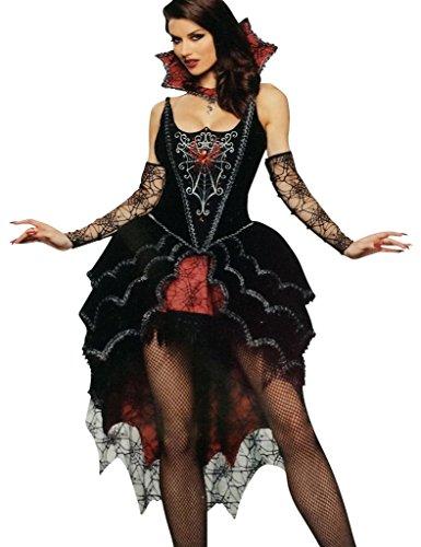 Imagen de disfraz bruja reina maléfica mujer araña  5 piezas  halloween/noche de brujas  talla 38