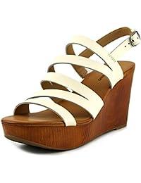 JITIAN Fashion Slide Sandalen für Frauen Sommer High Heel Fisch Mund Keil Outdoor Rutschfeste Velcro Plattform