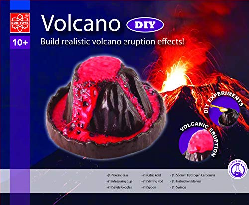 EDU Toys Vulkan mit echter Eruption Experimentierkasten