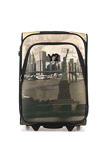 "Preisvergleich Produktbild Trolley bagaglio a mano rigido in tessuto,  Y Not ""Liberty island New York"""