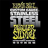 Ernie Ball 2246 Jeu de cordes 10-46 Regular Slinky Stainless Steel