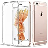 Connect Zone® Crystal Clear Transparent Back Silicone Gel Case Cover for iPhone 7 Plus/iPhone 8 Plus (5.5 inch) + Screen Guard And Polishing Cloth