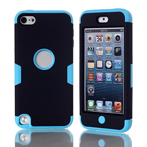 CaseFirst iPod Touch 5 Cover TPU Skin Protector Protective Phone Case Cover for iPod Touch 5 (Black + Blue)