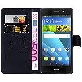 Hochwertige Kunst-Leder-Tasche mit Magnetverschluss für Huawei P8 lite von mangao® Case Handyhüllen