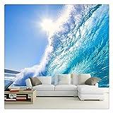 Fototapete Foto Fototapete Custom 3D Malerei Kunst Für Wohnzimmer Das Deep Blue Sea Surf Ozean Wellen Große Mural Tv Hintergrund Fototapete Wandbild, 200 Cm X 140 Cm