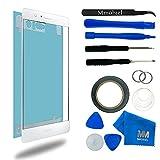 MMOBIEL Schermo tattile di ricambio. Per Huawei P9 (Bianco) Incluso kit con 12 attrezzi / vetro frontale / pinzetta / rullo di nastro adesivo da 2 mm / panno microfibra / ventosa / cavo metallico