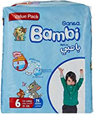 Sanita Bambi Baby Diapers Value Pack Size 6, XX-Large, 16+KG, 21 Count