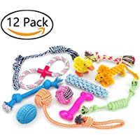 RoyalCare 12 Spielzeuge für Hunde, Kauspielzeug, Seil und Hundeball sind geeignet für kleine bis mittelgroße Hunde.