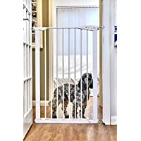 Callowesse® Extra Tall 110cm Pet Gate, Quality Pressure Fitted with 2 Stage Safety Catch and Bottom Security Stop. Strong Gate Suitable for Big Dogs