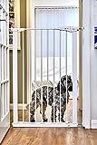 CALLOWESSE Cancelletto di Sicurezza Porte e Scale Extra-Alto per Bambini & Cani - 75cm-82cm x 110cm di altezza (Colore: Bianco)