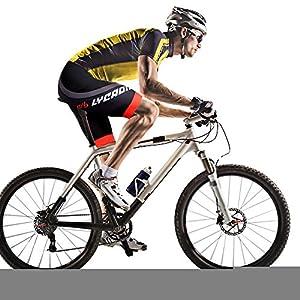 LYCAON da Ciclismo Performance (Imbottitura in Gel 3D), Pantaloncini da Bici per Mountain Bike da Strada MTB Bicicletta…
