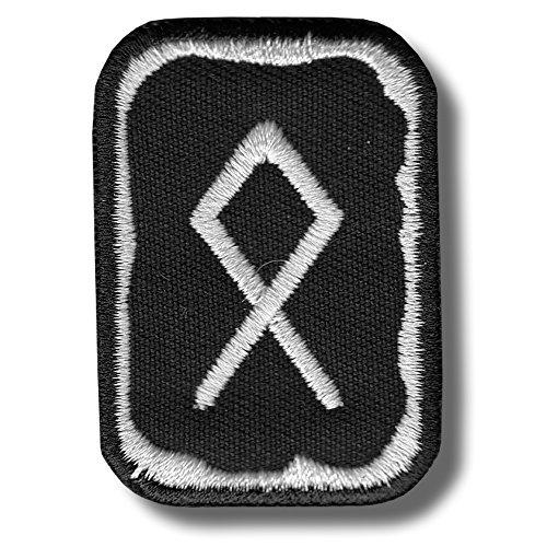 Othala rune - bordado parche, 4 X 5 cm