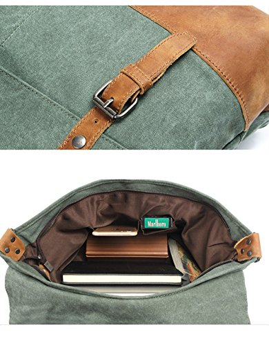 Menschwear Vintage Canvas Messenger Bags Casual Spalla Dell'imbracatura Pacchetto Daypack Verde Verde