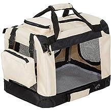 "TecTake Transportín plegable para perros jaula de transporte bolsa viaje 50x35x35cm ""S"""