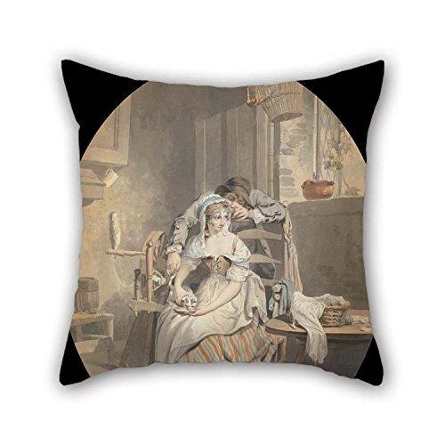 Ölgemälde Design Francis Wheatley–Die rustikale Lover Kissenbezüge Best für Bar Study Room Liegestuhl Paare Mutter ihn 50,8x 50,8cm/50von 50cm (doppelte Seiten)