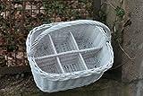 Flaschenkorb Weiß lackiert für 6 Flaschen aus Weide..extra Stabil..