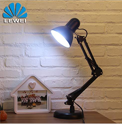 Brazo largo lámpara de mesa con clip plegable Lámpara de escritorio Pixar Lámpara de dormitorio universitario