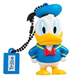 Tribe Disney Donald Duck USB Stick 16GB Speicherstick 2.0 High Speed Pendrive Memory Stick Flash Drive, Lustige Geschenke 3D Figur, USB Gadget aus Hart-PVC mit Schlüsselanhänger – Mehrfarbig