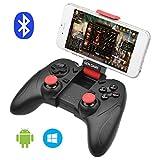 ALLCACA Contrôleur de jeu Bluetooth sans fil Gamepad Rechargeable Phone Controller avec fonction vibrante, Compatible avec Android, Tablet, TV, TV Box, VR, Noir