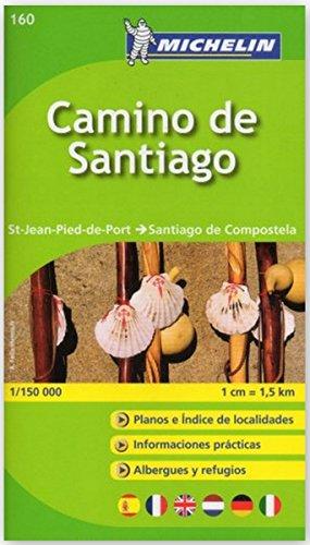 Camino de Santiago Michelin Zoom Map 160 (booklet format) (Michelin Kaarten Zoom) por Michelin