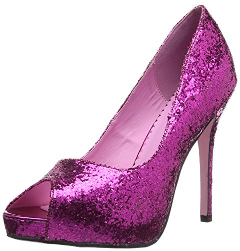 Leg Avenue 5011 - Ella 5 Zoll Glitzender Pump Schuh, Größe 10, rosa