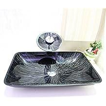 Aufsatz Glas Waschbecken Waschschale satiniert oval Waschtisch Glaswaschbecken