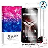 Ycloud [3 Pack] Panzerglas Bildschirmschutzfolie für ASUS ROG Phone,Hartglas Staubdichter, 9H kratzfester Bildschirmschutz Protector für ASUS ROG Phone