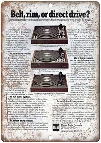 CHUNZO Direct Drive Turntable Blechwand Zeichen Vintage Eisen Malerei Retro Kunst Warnung Metall Plaque Decor für Straße Garage Cafe Bar - Direct-drive-band