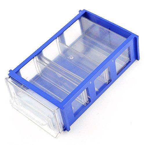 Kunststoff-Komponenten-Fach-Zug-Typ-Halter-Speicher-Fall-Kasten Blue Clear (Fach-speicher-kasten)