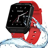 XIAYU Smart Fitness Tracker, Activity Watch Waterproof, Sport GPS Positionierung H5 älteren Telefon Außenhandel Smart Remis Tracking-Positionierung,Red