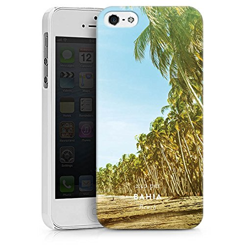 Apple iPhone X Silikon Hülle Case Schutzhülle Palmen Urlaub Strand Hard Case weiß