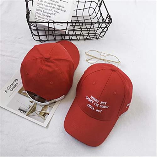 Hut weiblich Kappe lässig Wilde Straße Paar Student männlich Sonnenschutz Baseball Cap rot einstellbar (Baseball Kostüm Männlich)