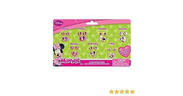 Joy Toy 71108/Minnie 7/Jours et Boucles doreilles Anneaux Autocollant sur Carte Backer
