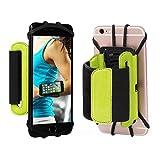 Sport Armband, 180 ° drehbarer Handy Halter Unterarm Running Radfahren Gym Jogging Armband für iPhone 4/5/6/7/7 Plus Samsung Galaxy S8 S7 S6 Edge Plus etc. (grün)