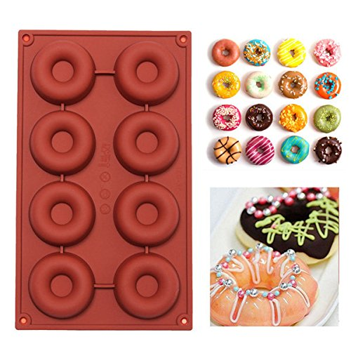 Anddod DIY Silicone Donuts Mold Cake Chocolate Cookies Mould Baking Decorating Tool (Chocolate Cake Donut)