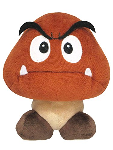 Super Mario - Goomba Plush - All Star Collection - 13cm 5""