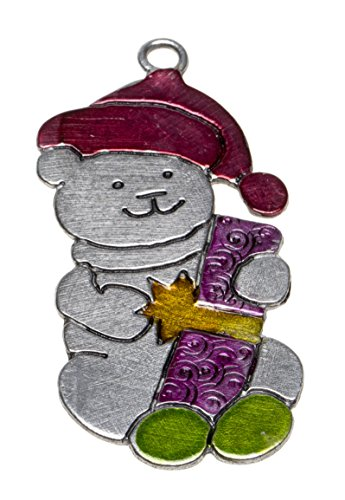 Schnabel-Zinn Teddy gemalt Weihnachtsanhänger mit Text