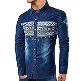 Herren Langarmshirt Xinantime Herren T-Shirt Bluse Männer Langarm Shirt V-Ausschnitt Top Slim Fit Hemden Herren S-XL