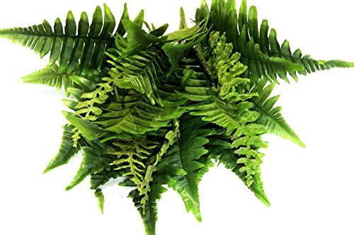 tatjana-land-deko Farnbusch Blätter Grün Farn – Busch Boston künstlich Waldfarn Kunstpflanze Z090