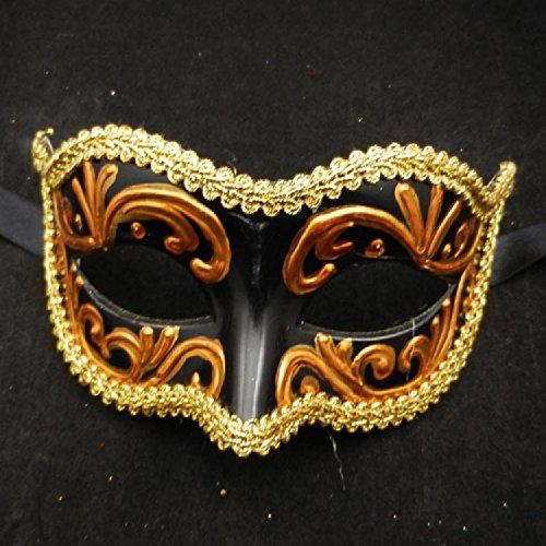 XJoel Mysterious exquisite Maske Masquerade Party verkleiden sich Prinzessin Half Face Maske venezianischen Maske verziert Adult Dance Parties (Kostüm Rex T Große)