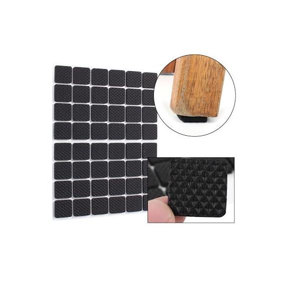 CrownLit Rubber Square Shape Furniture Pads (Black, 3223)