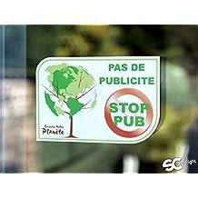 """Sticker Autocollant """" Pas de Publicité - Stop Pub """""""